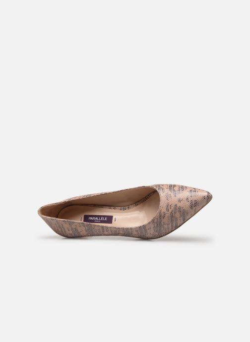 Zapatos de tacón Parallèle Nafta C Beige vista lateral izquierda