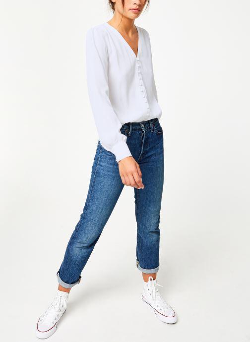 Vêtements Suncoo Blouse Linda Blanc vue bas / vue portée sac