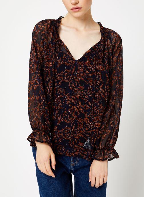 Kleding Suncoo Blouse Linda Blauw detail