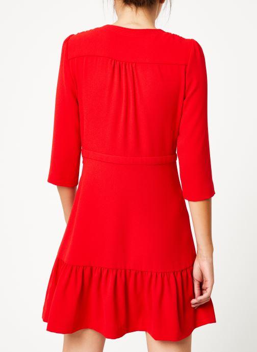 Vêtements Suncoo Robe Camilou Rouge vue portées chaussures