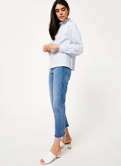 Vêtements Suncoo Blouse Larry Bleu vue bas / vue portée sac