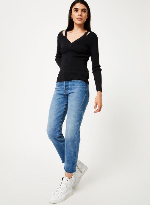 Vêtements Suncoo Pull Paz Noir vue bas / vue portée sac