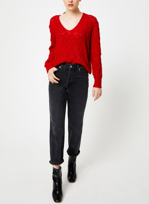 Vêtements Suncoo Pull Patras Rouge vue bas / vue portée sac