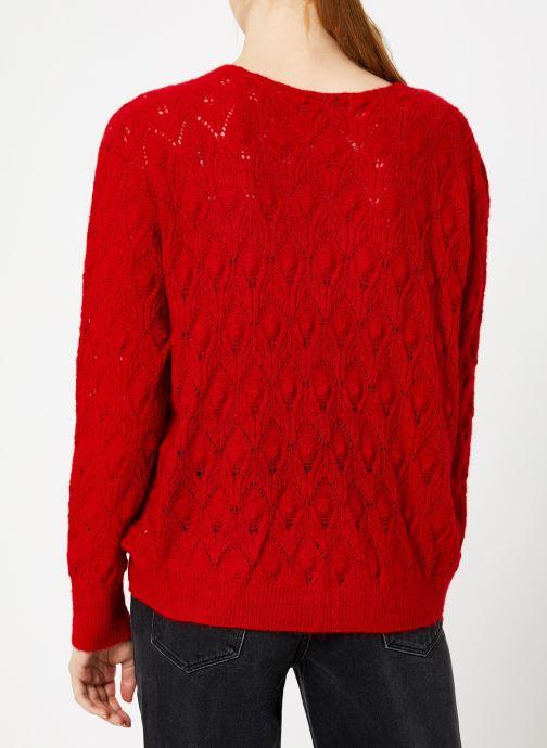 Vêtements Suncoo Pull Patras Rouge vue portées chaussures