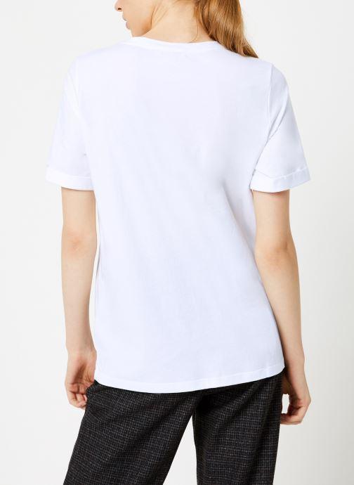 Vêtements Suncoo T-Shirt Missy Blanc vue portées chaussures
