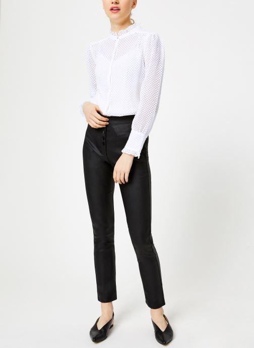 Vêtements Suncoo Chemise Lima Blanc vue bas / vue portée sac