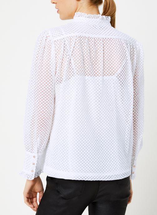 Vêtements Suncoo Chemise Lima Blanc vue portées chaussures