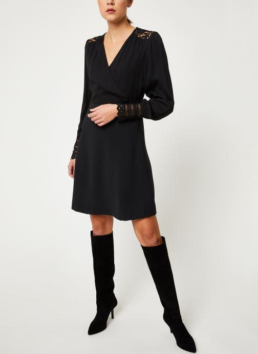 Vêtements Suncoo Robe Cherine Noir vue bas / vue portée sac