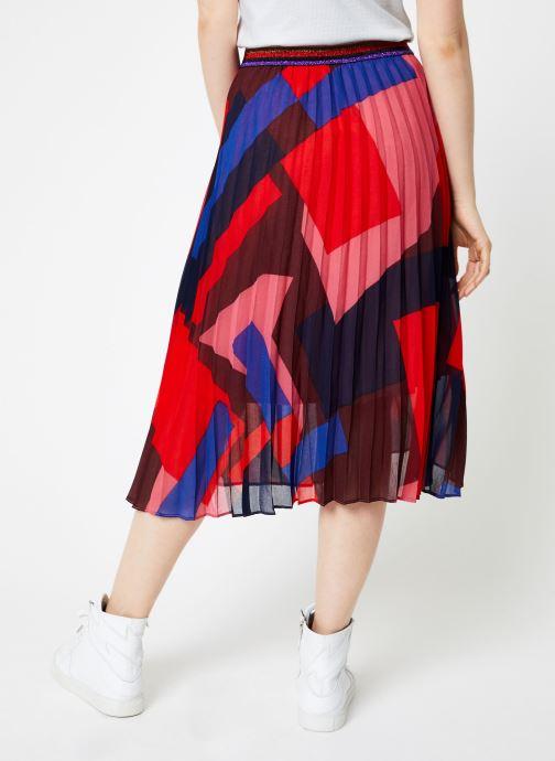 Vêtements Suncoo Jupe France Rouge vue portées chaussures