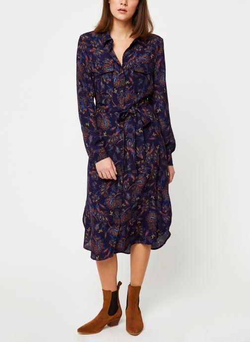 Vêtements Suncoo Robe Chemise Clementine Bleu vue bas / vue portée sac