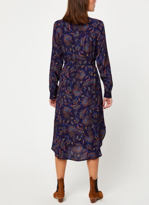 Vêtements Suncoo Robe Chemise Clementine Bleu vue portées chaussures