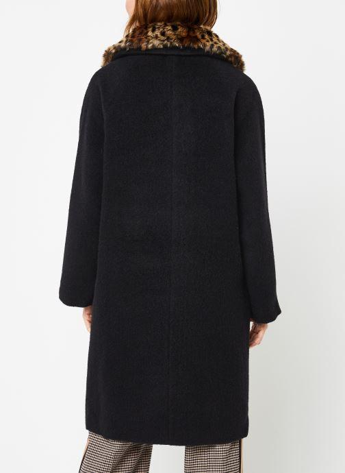 Vêtements Suncoo Manteau Ebony Noir vue portées chaussures