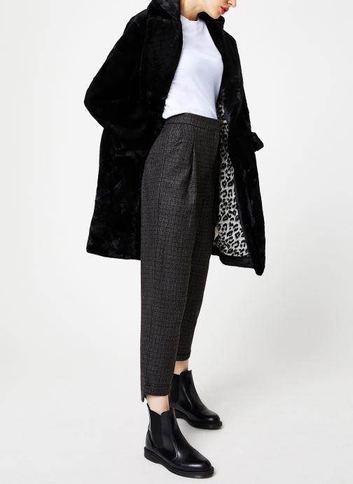 Vêtements Suncoo Manteau Eddie Noir vue bas / vue portée sac