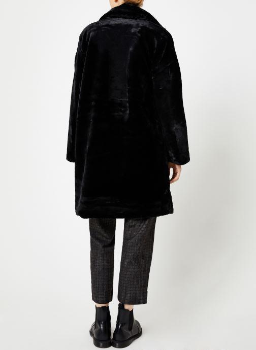 Vêtements Suncoo Manteau Eddie Noir vue portées chaussures