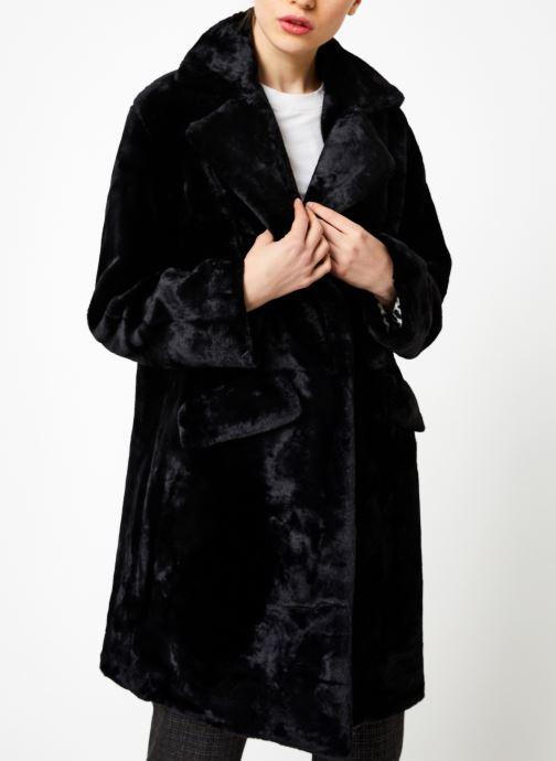 Vêtements Suncoo Manteau Eddie Noir vue droite