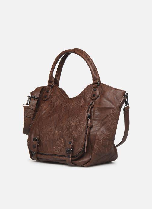 Handtaschen Desigual ALBITA ROTTERDAM braun schuhe getragen