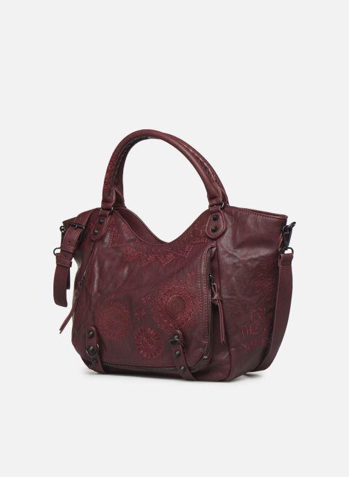 Handbags Desigual ALBITA ROTTERDAM Burgundy model view