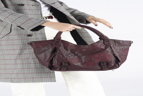 Handbags Desigual ALBITA ROTTERDAM Burgundy view from underneath / model view