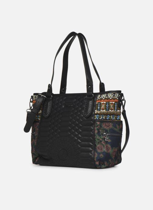 Bolsos de mano Desigual UNIQUE KAKI MAXTON Multicolor vista del modelo