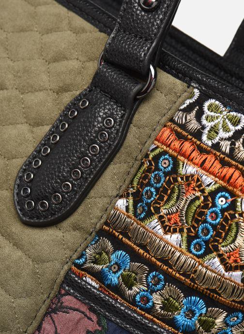 Bolsos de mano Desigual UNIQUE KAKI MAXTON Multicolor vista lateral izquierda