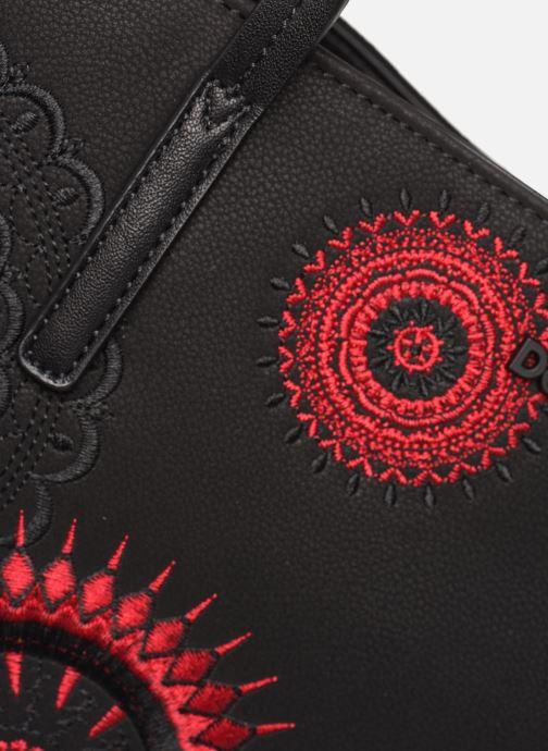 Bolsos de mano Desigual COMUNIKA SICILIA ZIPPER Negro vista lateral izquierda