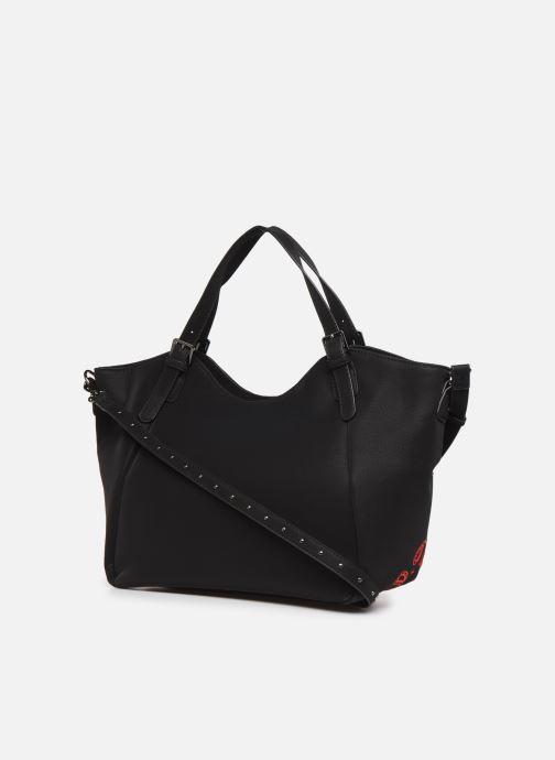 Handbags Desigual GEMINI ROTTERDAM, Black view from the right