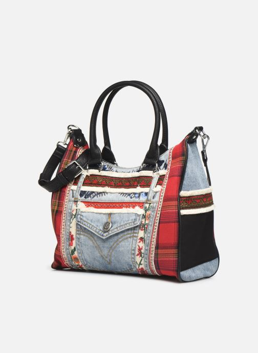 Bolsos de mano Desigual RED DENIM LEEDS Multicolor vista del modelo