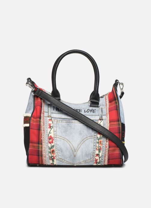 Bolsos de mano Desigual RED DENIM LEEDS Multicolor vista de frente