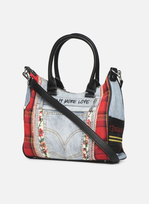Bolsos de mano Desigual RED DENIM LEEDS Multicolor vista lateral derecha