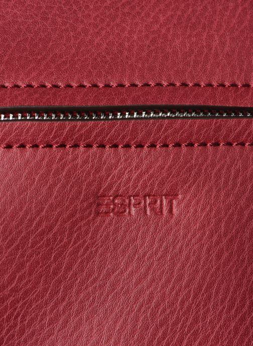 Handtaschen Esprit Tori medshldbag weinrot ansicht von links