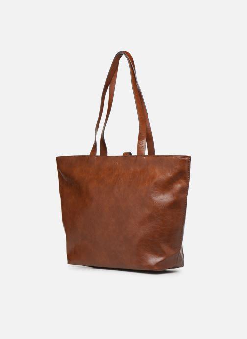 Handtaschen Esprit Tavi shopper Bags braun ansicht von rechts