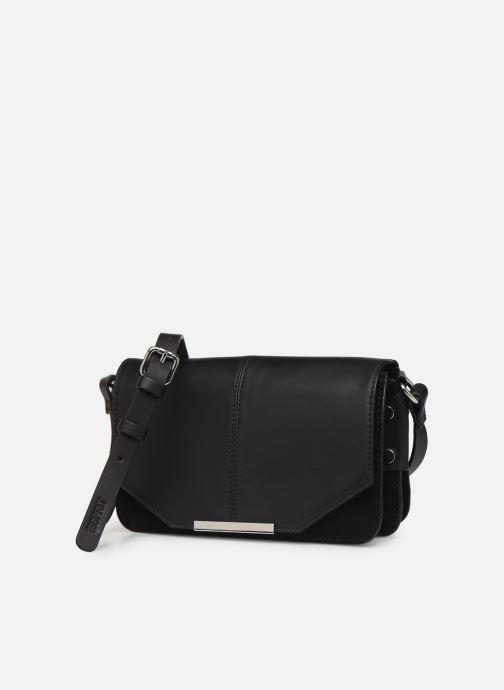 Sacs à main Esprit Uma Leather shoulderbag Noir vue portées chaussures