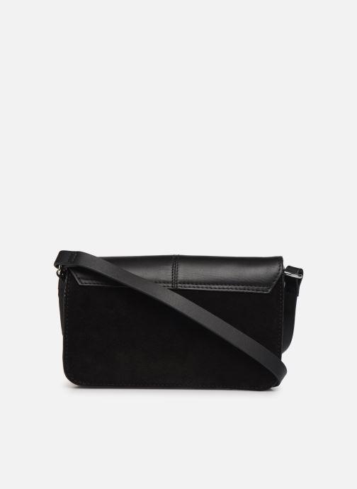 Handtassen Esprit Uma Leather shoulderbag Zwart voorkant