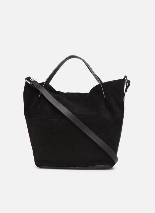 Handbags Esprit Uma Leather city bag Black front view