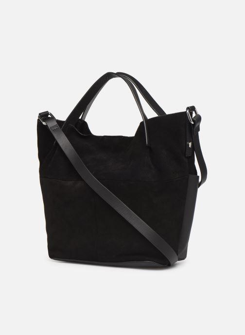 Sacs à main Esprit Uma Leather city bag Noir vue droite