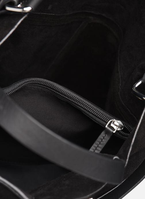 Handbags Esprit Uma Leather city bag Black back view