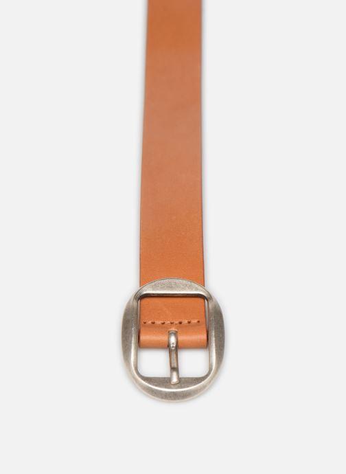 Ceintures Esprit Greta belt Belts leather Marron vue portées chaussures