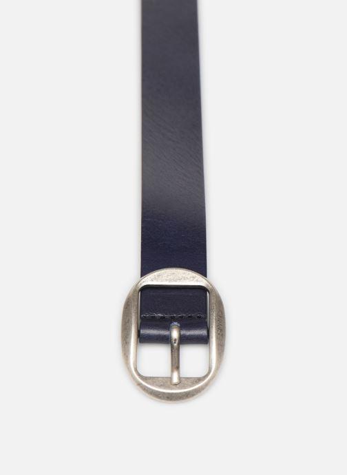 Ceintures Esprit Greta belt Belts leather Bleu vue portées chaussures