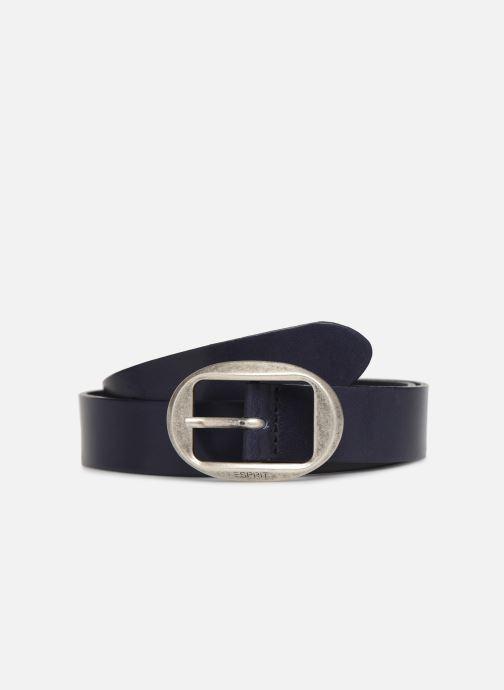 Cinturones Esprit Greta belt Belts leather Azul vista de detalle / par