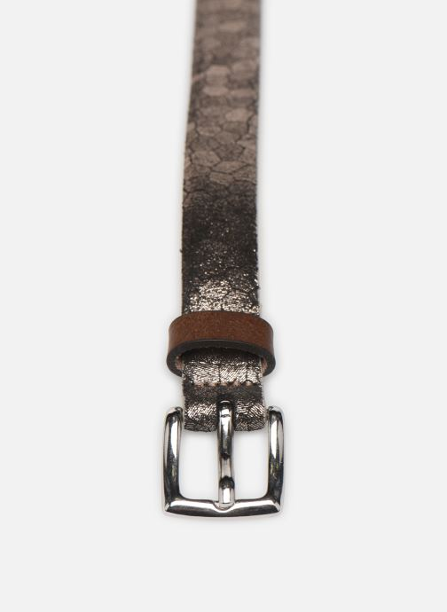 Ceintures Esprit Structure mettl Belts leather Or et bronze vue portées chaussures