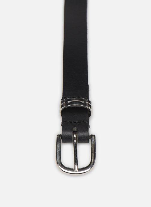 Ceintures Esprit Metal loop belt Belts leather Noir vue portées chaussures