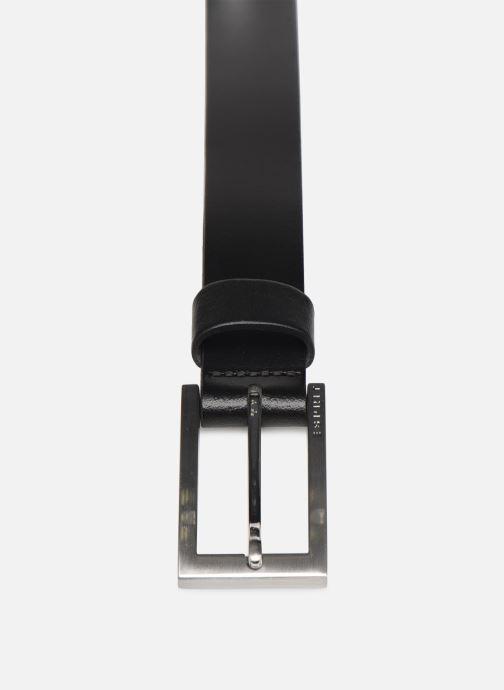 Ceintures Esprit Olaf Belt Belts leather Noir vue portées chaussures