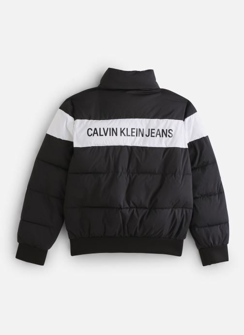 Vêtements Calvin Klein Colour Block Puffer Bomber Noir vue bas / vue portée sac