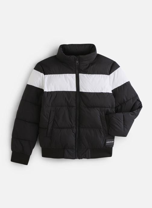 Vêtements Calvin Klein Colour Block Puffer Bomber Noir vue détail/paire