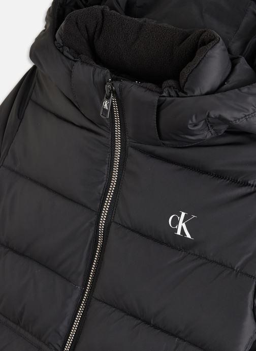Vêtements Calvin Klein Essential Puffer Jacket Noir vue portées chaussures