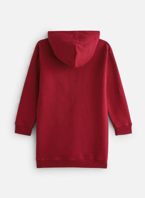Vêtements Calvin Klein Hooded Monogram Sweatshirt Dress Bordeaux vue bas / vue portée sac
