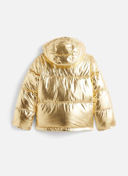 Vêtements Calvin Klein Gold Puffer Jacket Or et bronze vue bas / vue portée sac