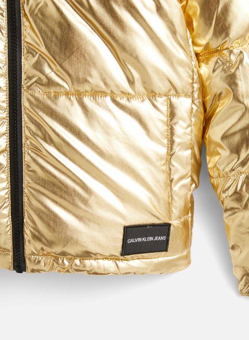 Vêtements Calvin Klein Gold Puffer Jacket Or et bronze vue portées chaussures