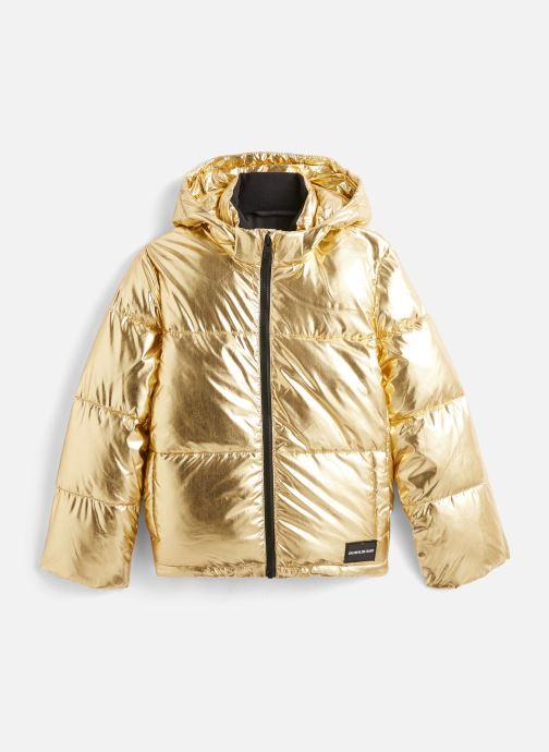 Vêtements Calvin Klein Gold Puffer Jacket Or et bronze vue détail/paire