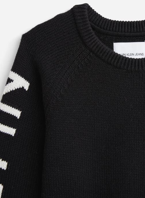 Vêtements Calvin Klein Logo Raglan Noir vue portées chaussures